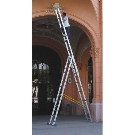 Alumijnasta lestev trodelna Hobby - delovne višine 4,75 m