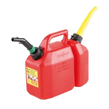 Dvojna Ročka za gorivo 6 + 2,2L