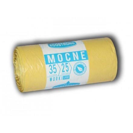 Vrečke za smeti 35L LDPE (25/1) - Rumena