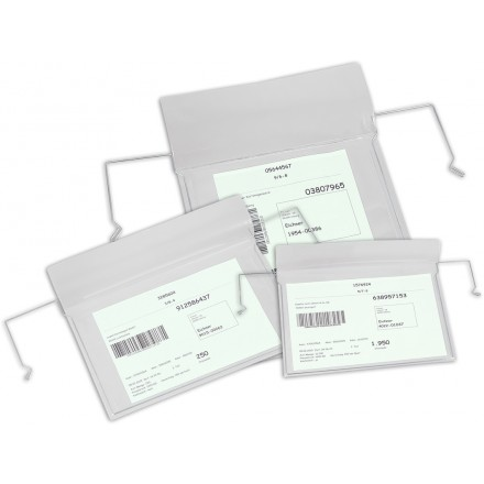 Viseči prozorni žep za označevanje A6 Ležeče 10/1