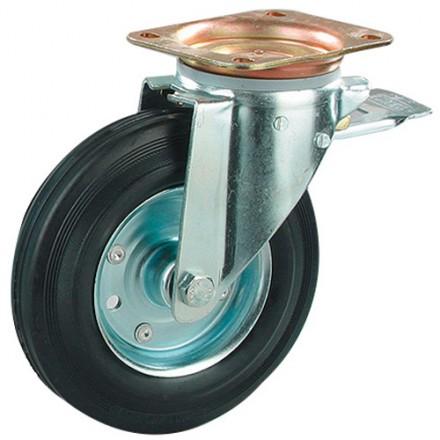 Transportno kolo, kovinski disk - vrtljivo z zavoro tip 0918