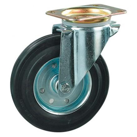 Transportno kolo, kovinski disk - vrtljivo 125 mm