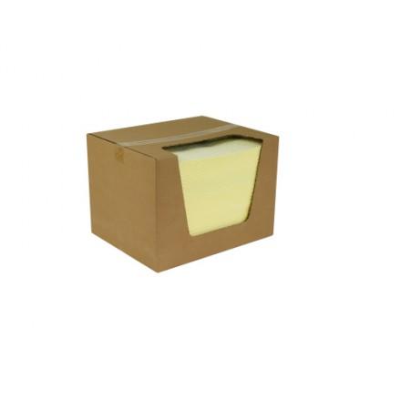 Vpojne krpe rumena, težka, 40 x 50 cm - 100 kos