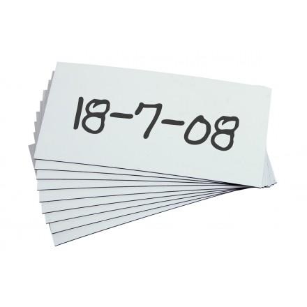 Magnetni žep z razširljivo gubo A4 (Set 5 kos) - Bel
