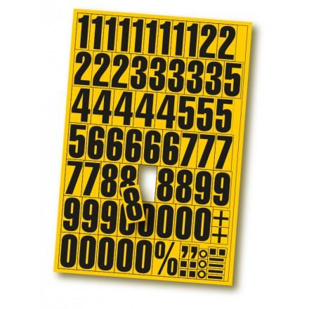 Magnetne številke za označevanje - Rumene