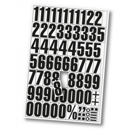 Magnetne številke za označevanje - Bele